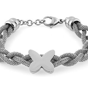 Jewelry - Stainless Steel butterfly mesh bracelet